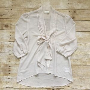 URBAN OUTFITTERS Pins and Needles tie-front blouse